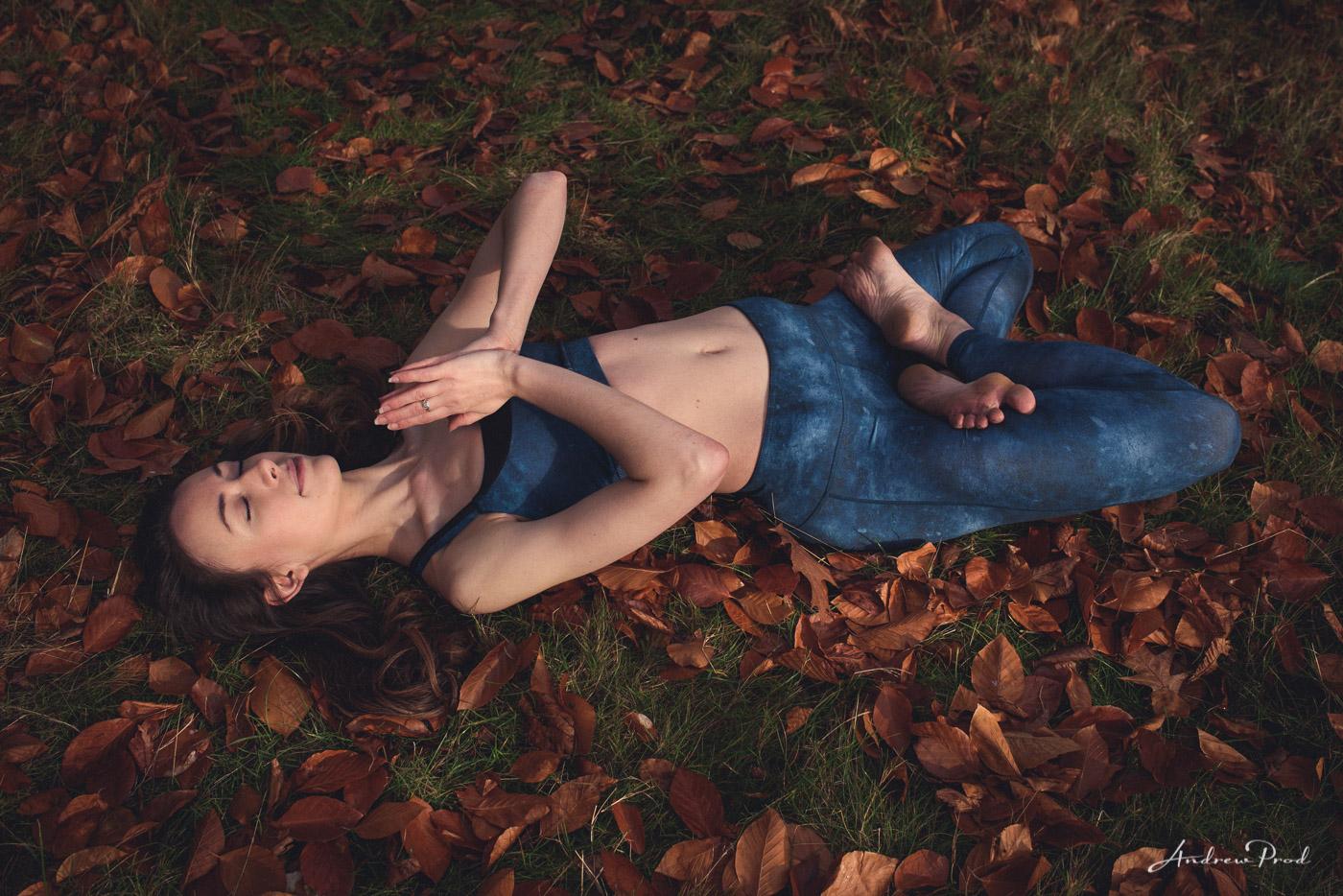 Autumn yoga photoshoot