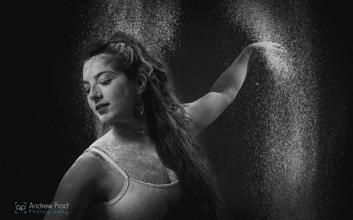 Female flour portrait