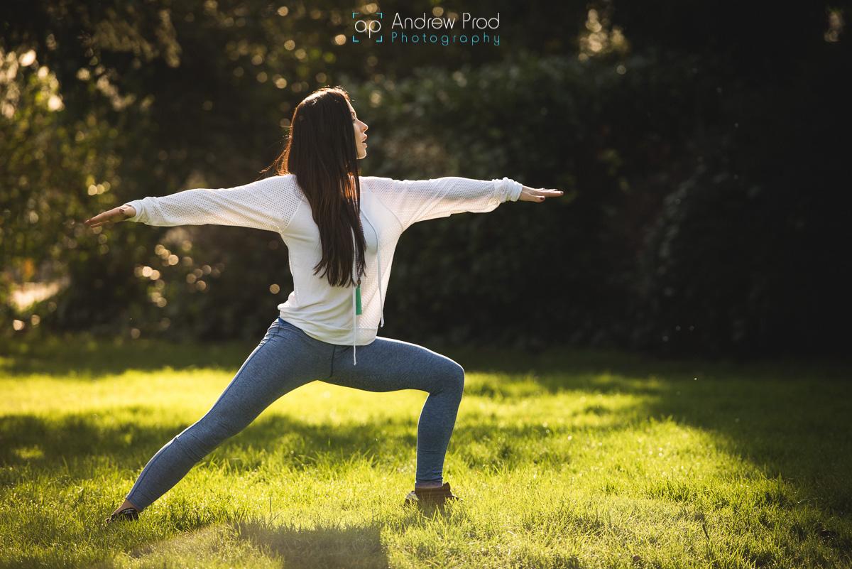 Yoga photoshoot london