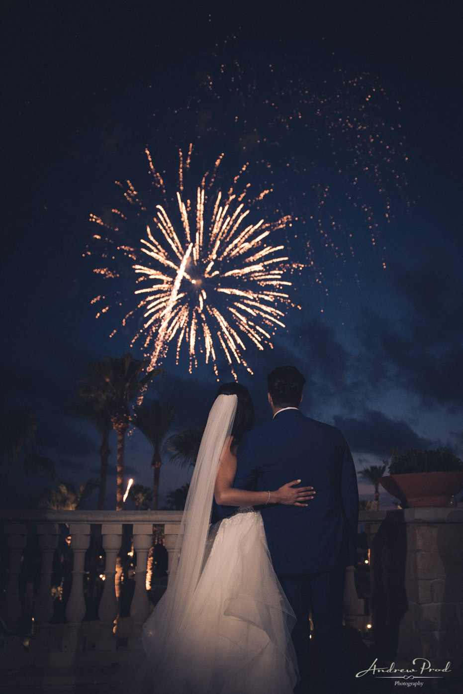 elysium paphos wedding fireworks