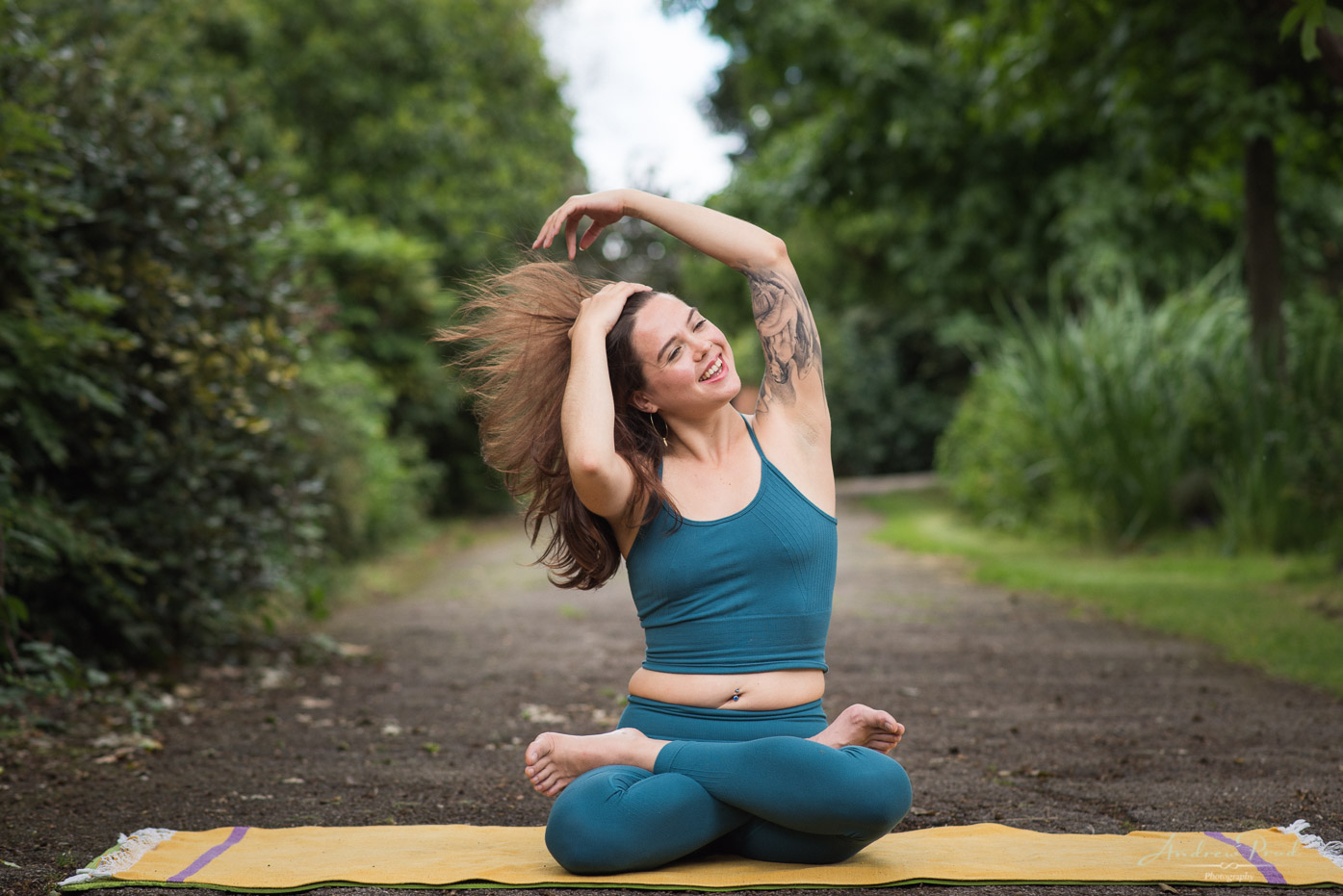 Lifestyle yoga portraits